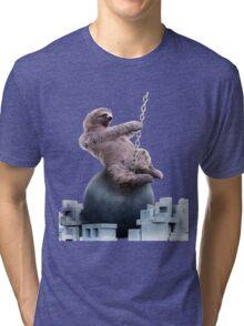 Wrecking Ball Sloth Tri-blend T-Shirt