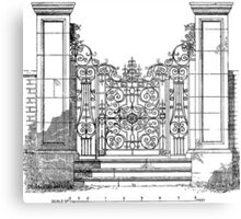 Gate design from a study of 17th and 18th century English ironwork Canvas Print