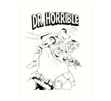Dr. Horrible's Sing-Along Redbubble Art Print