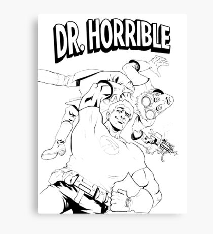 Dr. Horrible's Sing-Along Redbubble Canvas Print