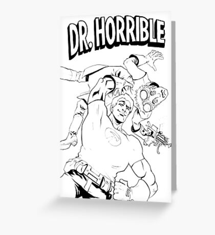 Dr. Horrible's Sing-Along Redbubble Greeting Card