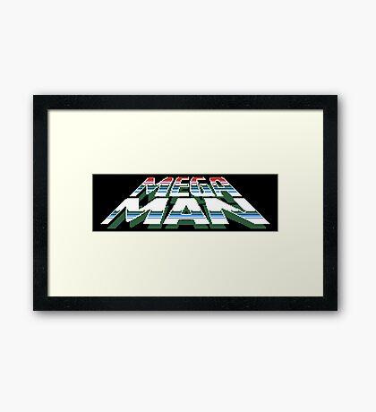 Megaman: Logo Framed Print