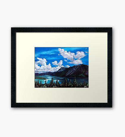 Bob Rossy Peaceful Landscape Painting Framed Print