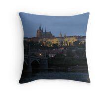Prague Castle at Twilight Throw Pillow