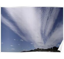 awesome clouds at Penguin   Poster