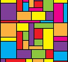 Bright Color Blocks Mondrian Inspired by itsrturn