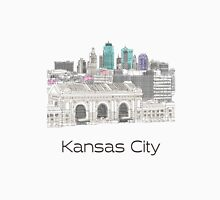 Hand Drawn Kansas City Skyline Unisex T-Shirt
