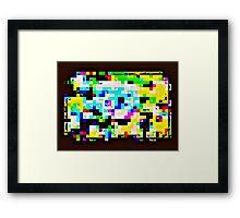Techno Rainbow Framed Print