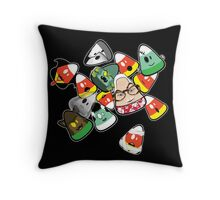Horror Corn :) Throw Pillow