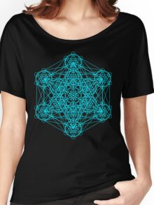 Infinity Cube Light Blue Women's Relaxed Fit T-Shirt