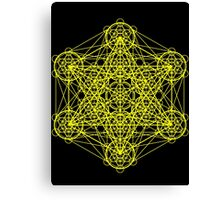 Infinity Cube Yellow Canvas Print