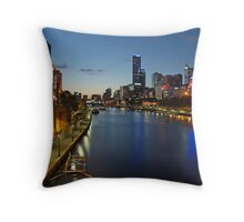 First Star over Melbourne Throw Pillow