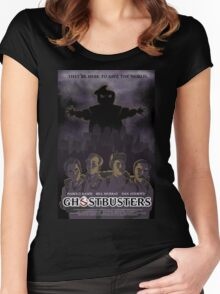Ghostbusters - Poster Version Women's Fitted Scoop T-Shirt