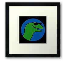 Velawesomeraptor Framed Print