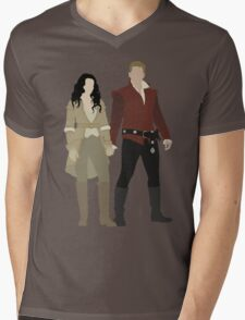Snow White and her Prince Charming Mens V-Neck T-Shirt
