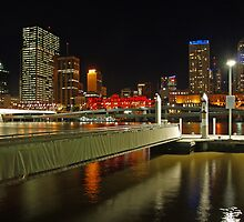 City Cat boardwalk at night by Ian Colley