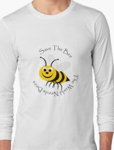 Save The Bee Design Long Sleeve T-Shirt
