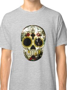 Day of the Dead Sugar Skull Grunge Design Classic T-Shirt