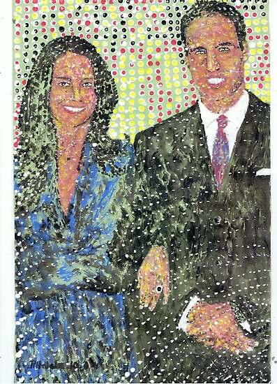 Prince William and kate Middleton (2) by George Coombs