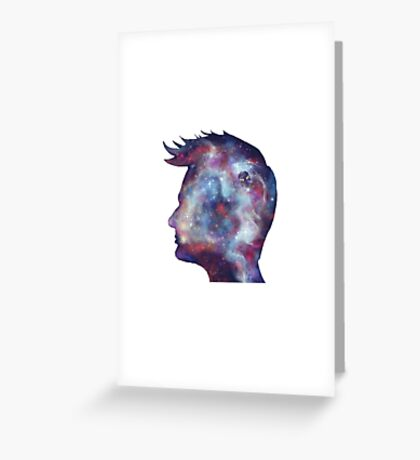 Tenth Doctor Who Galaxy Silhouette Greeting Card