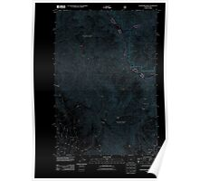 USGS Topo Map Oregon Deadhorse Ridge 20110829 TM Inverted Poster