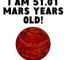 96th Birthday Mars Years by GiftIdea