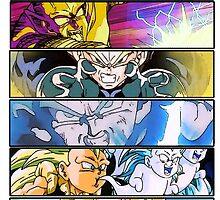 Dragonball Z - Scenes shirt. by Veldranol