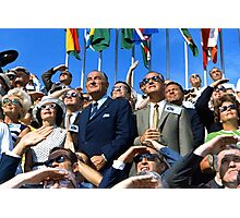 Lyndon Johnson and Spiro Agnew Watch the Apollo 11 Liftoff Photographic Print