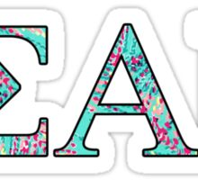 Sigma Alpha Iota Lilly Pulitzer Sticker