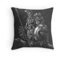 Lost comrades under the moon Throw Pillow