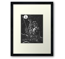 Lost comrades under the moon Framed Print