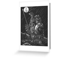 Lost comrades under the moon Greeting Card