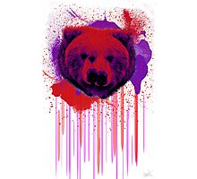 Psychedelic Bear Photographic Print