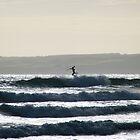 Paddle-boarder loses it - Sandy Point - Prom Country by DavisArk