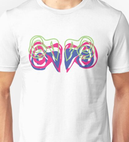 Psychedelic Graffiti Ram- White  Unisex T-Shirt
