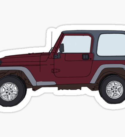 Hand Drawn Jeep Wrangler Sticker