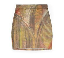 Windy Autumn - Section of Art Pastel Abstract  Mini Skirt