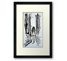 Girl In The Woods Framed Print