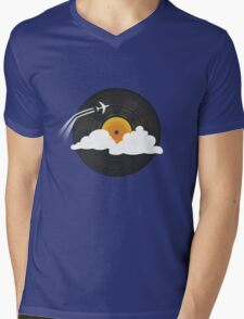 Sunburst Records Mens V-Neck T-Shirt