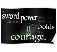 A Sword Wields No Power Poster