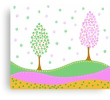 Cute Tree Illustration Canvas Print