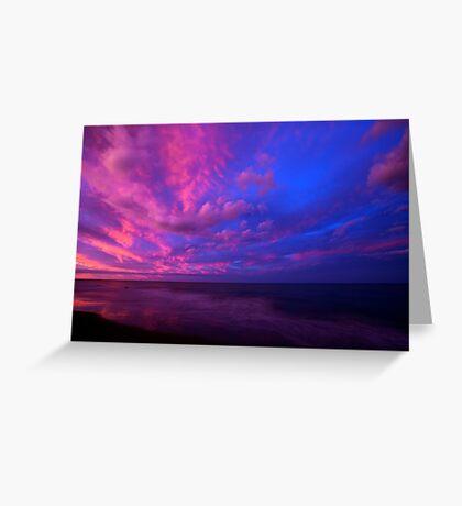 Opposing the sunset Greeting Card