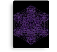 Infinity Cube Purple Canvas Print