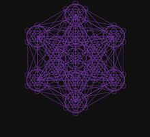 Infinity Cube Purple Unisex T-Shirt
