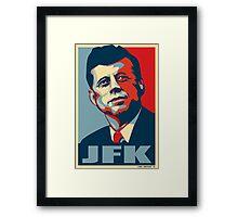 JFK Shepard Hope Style Poster Framed Print