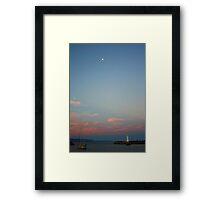 Moonrise over Brighton Harbour Framed Print