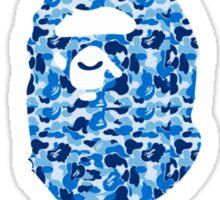 A bathing ape round text blue Sticker