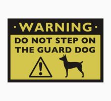 Rat Terrier Funny Guard Dog Warning by Jenn Inashvili