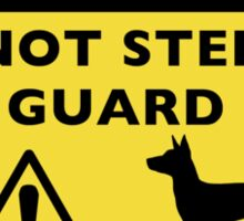 Rat Terrier Funny Guard Dog Warning Sticker