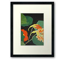 """In the Nasturtium Patch"" Framed Print"